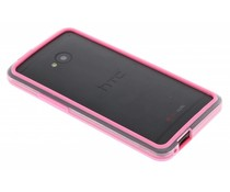 Roze transparant bumper HTC One