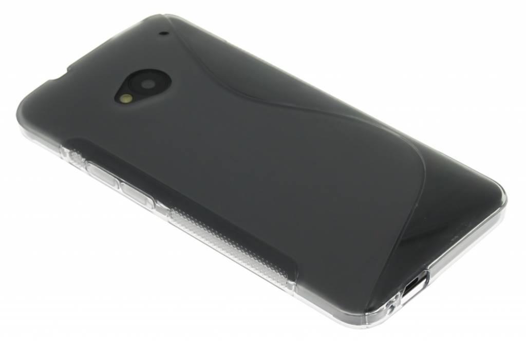 Grijs transparant S-line flexibel TPU hoesje voor HTC One