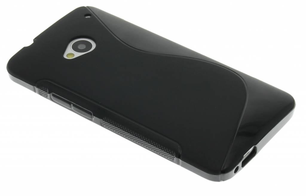 Zwart S-line flexibel TPU hoesje voor HTC One