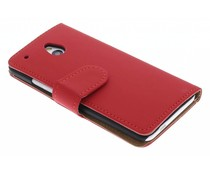 Rood effen booktype hoes HTC One Mini