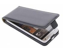 Zwart luxe flipcase HTC One Mini