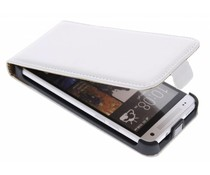 Wit luxe flipcase HTC One Mini