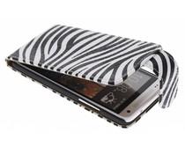 Zebra flipcase HTC One Mini