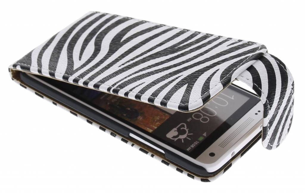 Zebra flipcase voor de HTC One Mini