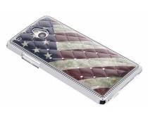 Amerikaanse vlag hardcase hoesje strass HTC One Mini