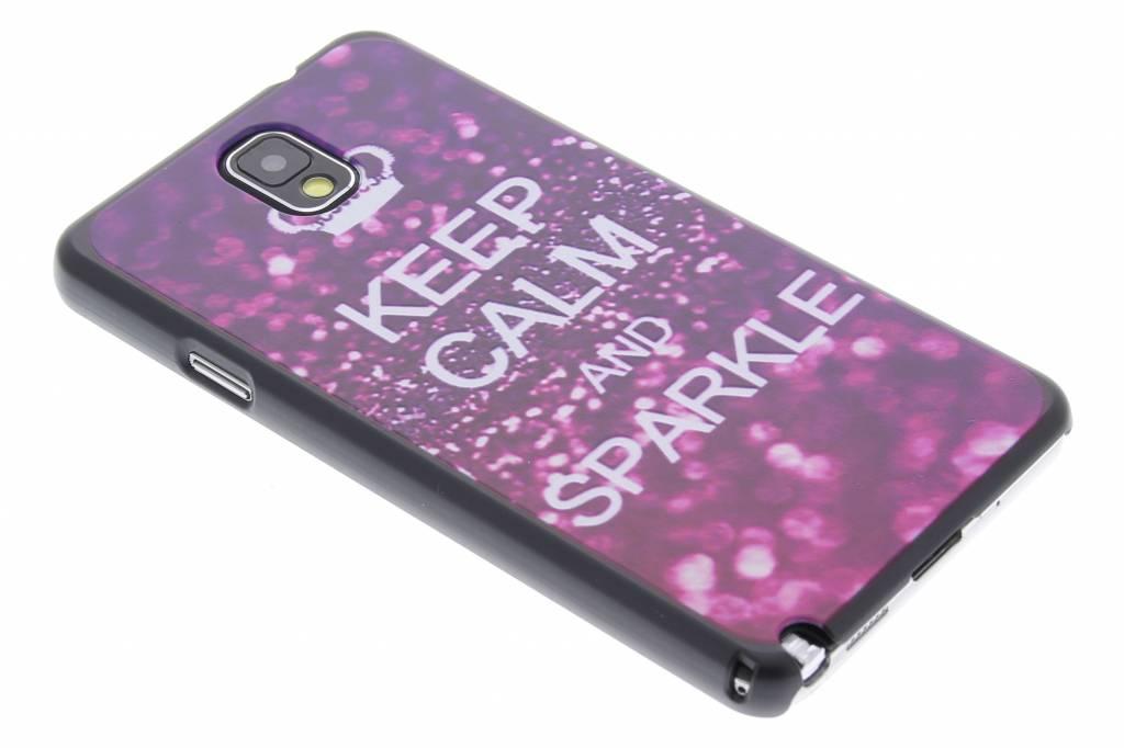 Keep Calm and sparkle design hardcase Samsung Galaxy Note 3
