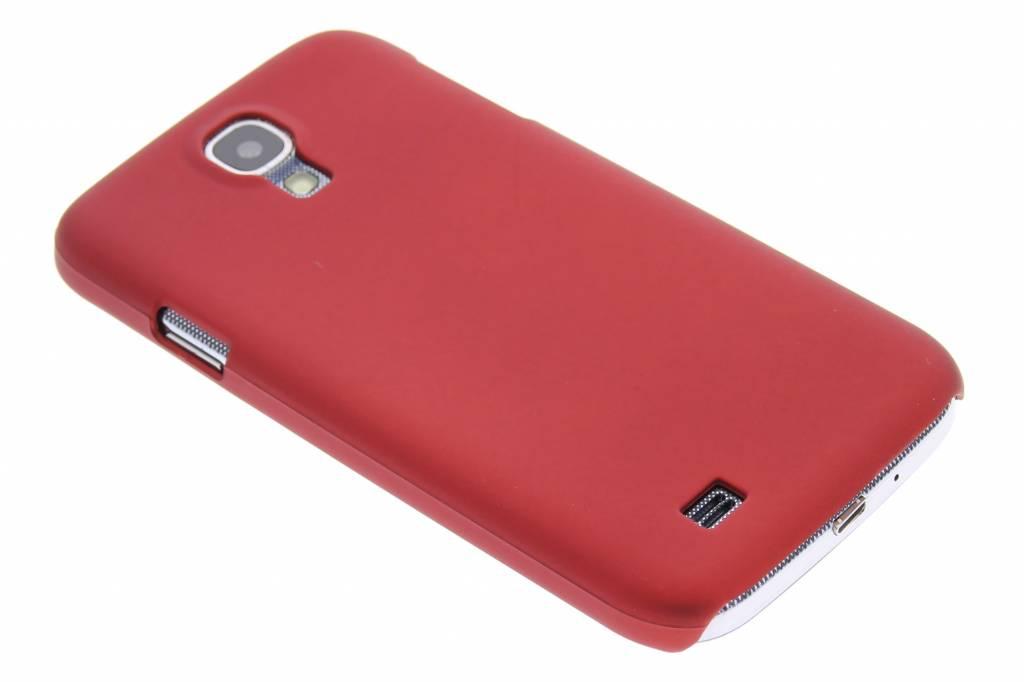 Rode effen hardcase voor de Samsung Galaxy S4