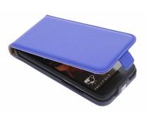 Blauw luxe flipcase HTC Desire 601