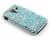 Blauw pareltjes BlingBling hardcase hoesje Galaxy Ace 2
