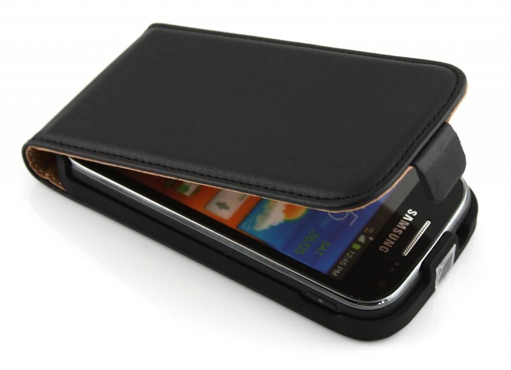 Zwart luxe sterke flipcase voor Samsung Galaxy Ace 2 i8160