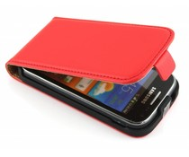 Rood luxe flipcase Samsung Galaxy Ace 2