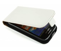 Wit luxe flipcase Samsung Galaxy Ace 2