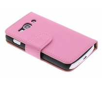 Roze booktype hoes Samsung Galaxy Ace 3