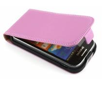 Roze luxe flipcase Samsung Galaxy Ace 2