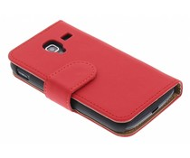 Rood effen booktype hoes Samsung Galaxy Ace 2