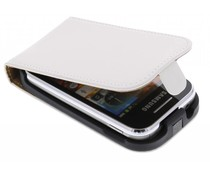 Wit luxe flipcase Samsung Galaxy Young