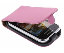 Roze luxe flipcase Samsung Galaxy Young