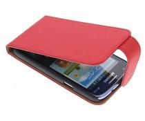 Rood classic effen flipcase Samsung Galaxy Core