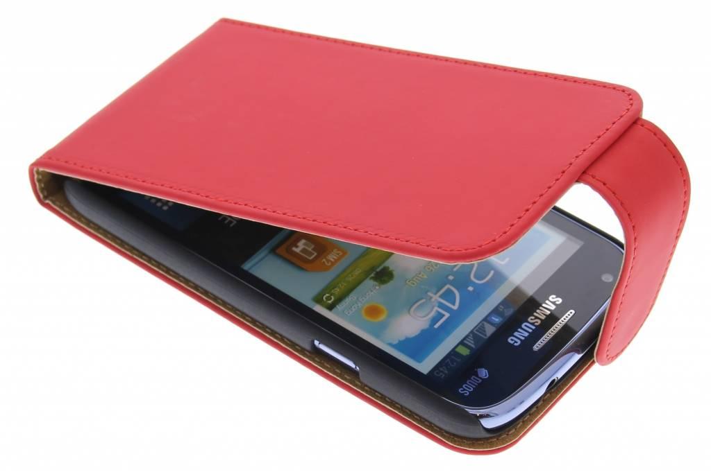 Rood classic effen flipcase hoesje voor Samsung Galaxy Core