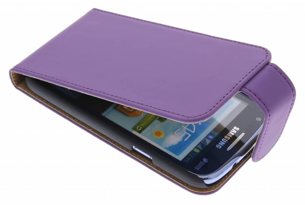 Paars classic effen flipcase hoesje voor Samsung Galaxy Core