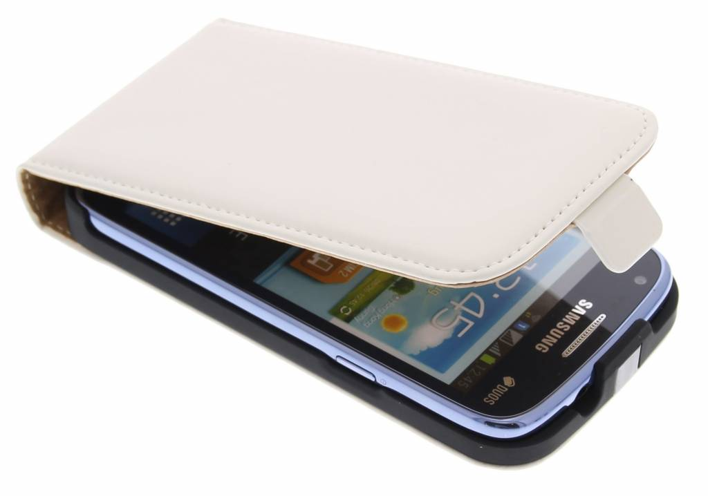 Mobiparts Premium Flipcase voor de Samsung Galaxy Core - White