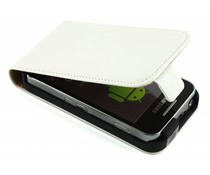 Wit luxe flipcase Samsung Galaxy Ace
