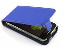 Blauw luxe flipcase Samsung Galaxy Ace