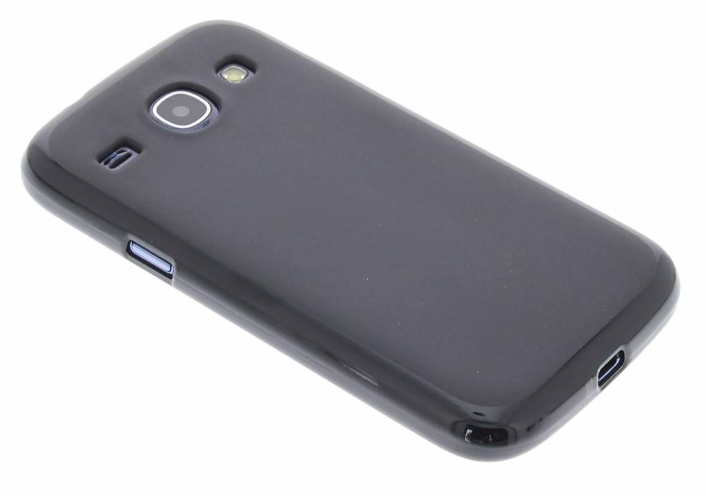 Zwart hard siliconen hoes voor de Samsung Galaxy Core