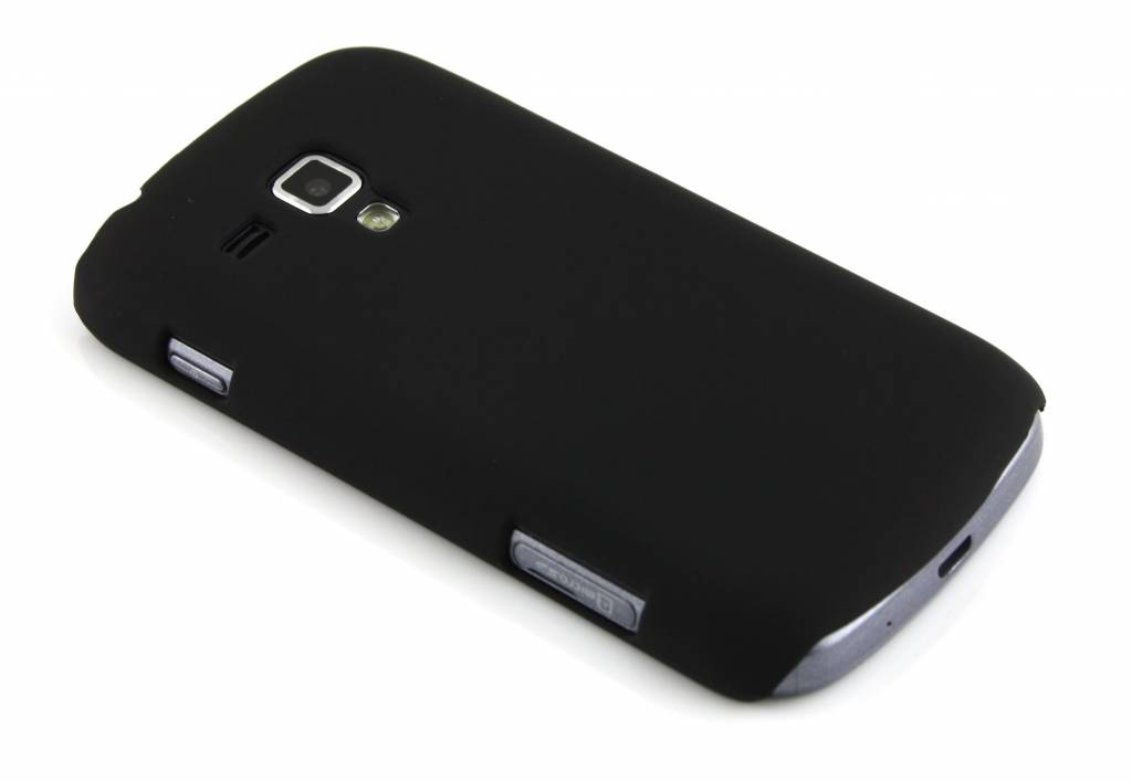 Mat zwarte dunne hardcase voor de Samsung Galaxy S Duos / Trend (Plus)