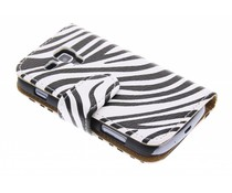 Zebra booktype Samsung Galaxy S Duos / Trend (Plus)