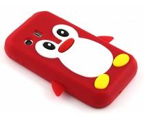 Rood pinguin siliconen hoesje Samsung Galaxy Y