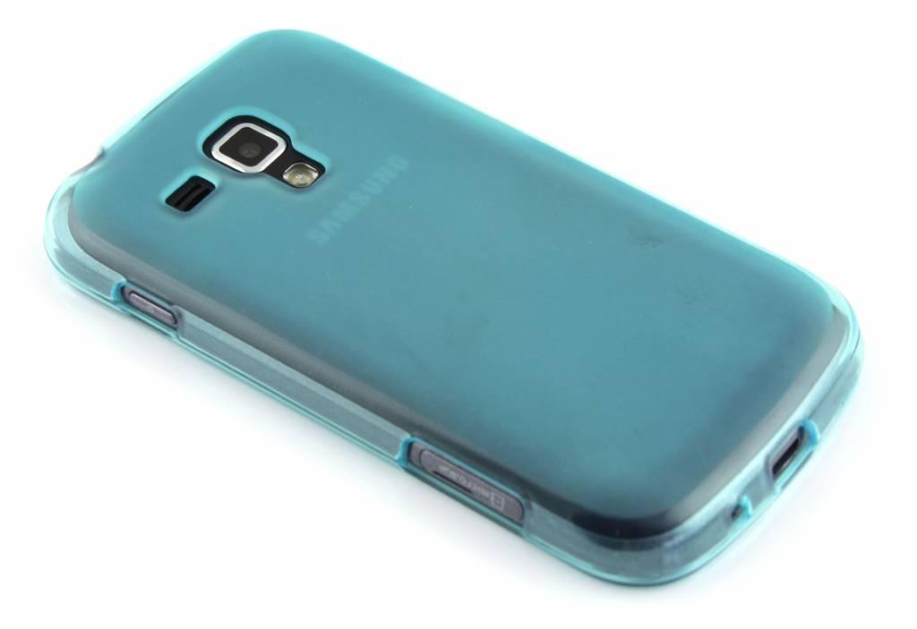 Turquoise hard siliconen hoesje voor de Samsung Galaxy S Duos / Trend (Plus)