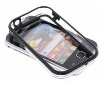 Zwart transparante bumper voor Samsung Galaxy Y