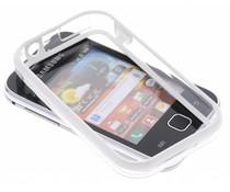 Wit transparante bumper voor Samsung Galaxy Y
