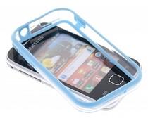Turquoise transparante bumper voor Samsung Galaxy Y