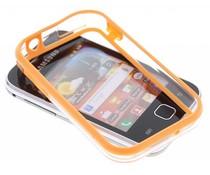 Oranje transparante bumper voor Samsung Galaxy Y