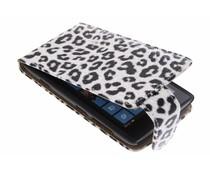 Zwart/wit luipaard flipcase Nokia Lumia 520