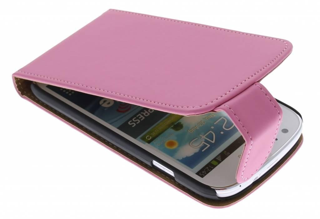 Roze classic flipcase voor de Samsung Galaxy Express