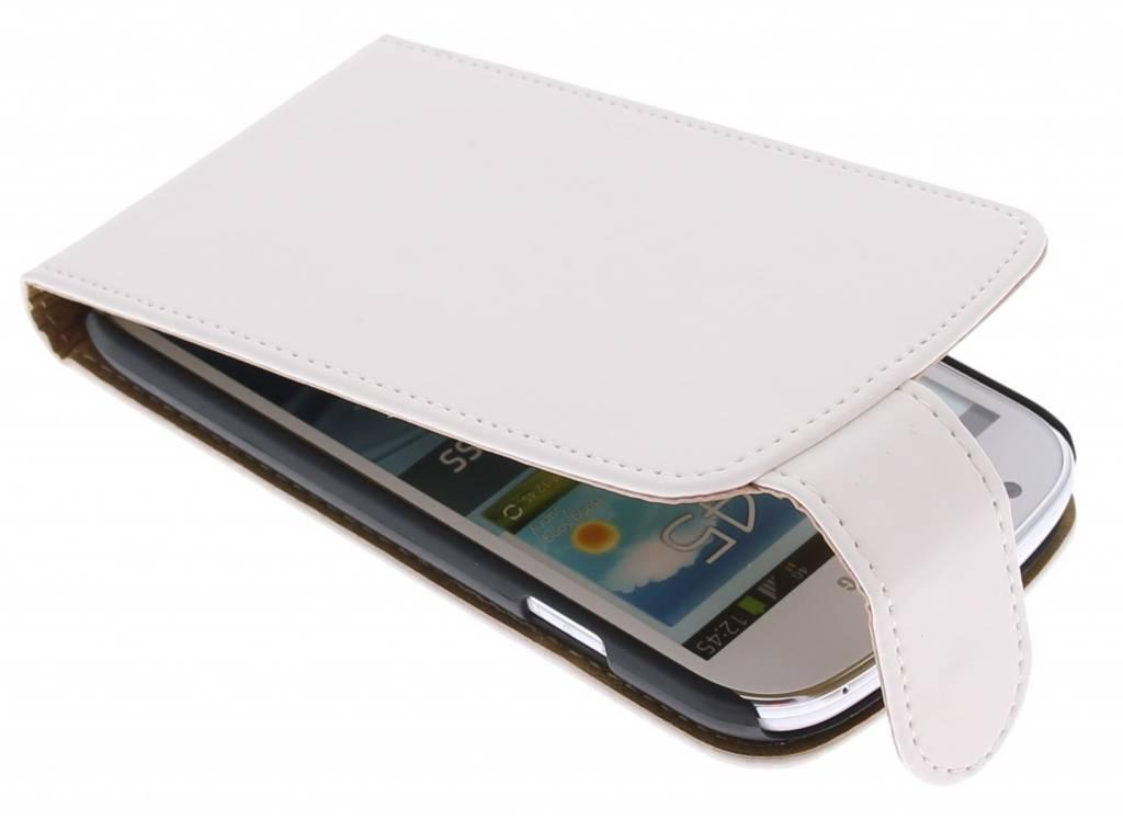Wit classic flipcase voor de Samsung Galaxy Express