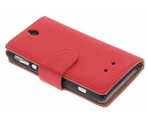 Rood booktype hoes Sony Xperia E