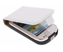 Wit luxe flipcase Samsung Galaxy Fame
