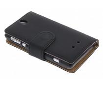 Zwart booktype hoes Sony Xperia E
