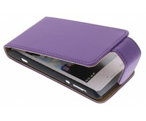 Paars classic flipcase Sony Xperia E