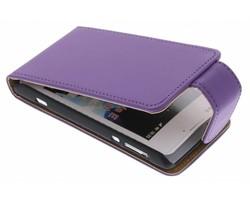 Paars classic flipcase Sony Xperia E