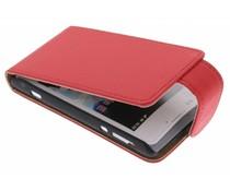 Rood classic flipcase Sony Xperia E