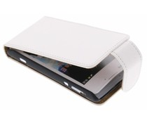 Wit classic flipcase Sony Xperia E