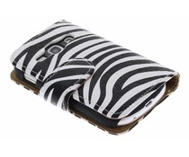 Zebra booktype hoes Samsung Galaxy Fame