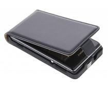 Zwart luxe flipcase Sony Xperia E