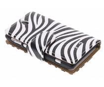 Zebra booktype hoes Sony Xperia E