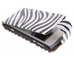 Zebra flipcase Sony Xperia E
